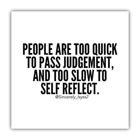 DON'T LET PEOPLE JUDGE
